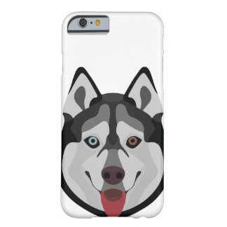 Illustration dogs face Siberian Husky Barely There iPhone 6 Case