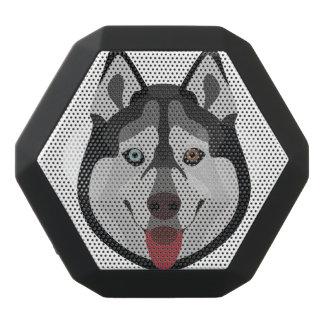 Illustration dogs face Siberian Husky Black Bluetooth Speaker