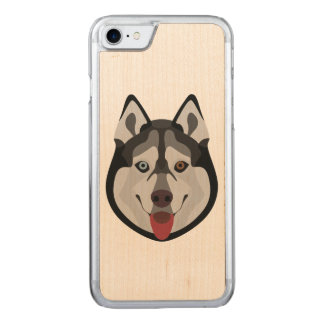 Illustration dogs face Siberian Husky Carved iPhone 8/7 Case