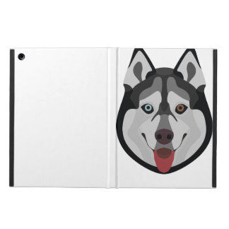 Illustration dogs face Siberian Husky Case For iPad Air