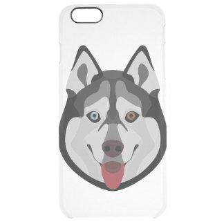 Illustration dogs face Siberian Husky Clear iPhone 6 Plus Case