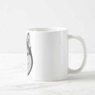Illustration dogs face Siberian Husky Coffee Mug