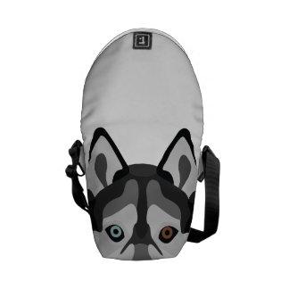 Illustration dogs face Siberian Husky Commuter Bag