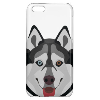 Illustration dogs face Siberian Husky Cover For iPhone 5C