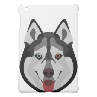 Illustration dogs face Siberian Husky Cover For The iPad Mini