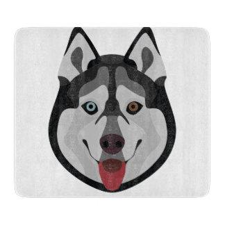 Illustration dogs face Siberian Husky Cutting Board