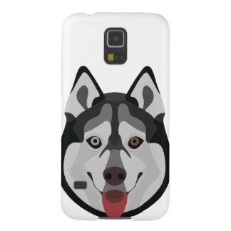 Illustration dogs face Siberian Husky Galaxy S5 Covers