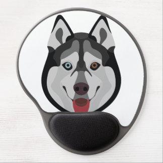 Illustration dogs face Siberian Husky Gel Mouse Pad
