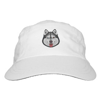 Illustration dogs face Siberian Husky Hat