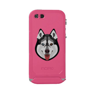 Illustration dogs face Siberian Husky Incipio ATLAS ID™ iPhone 5 Case