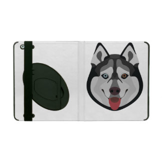 Illustration dogs face Siberian Husky iPad Folio Case