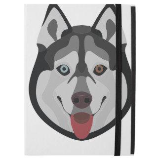 "Illustration dogs face Siberian Husky iPad Pro 12.9"" Case"