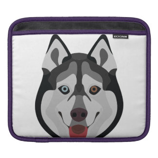 Illustration dogs face Siberian Husky iPad Sleeve