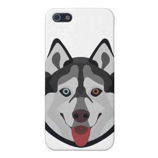 Illustration dogs face Siberian Husky iPhone 5 Case