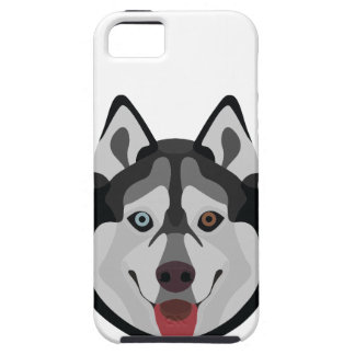 Illustration dogs face Siberian Husky iPhone 5 Cases