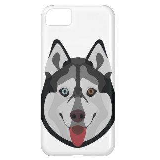 Illustration dogs face Siberian Husky iPhone 5C Case