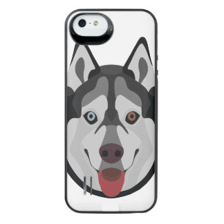 Illustration dogs face Siberian Husky iPhone SE/5/5s Battery Case