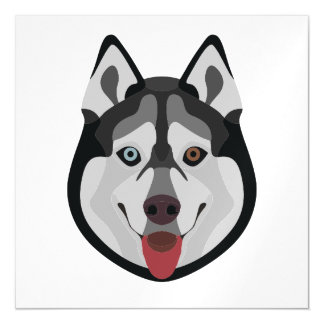 Illustration dogs face Siberian Husky Magnetic Card