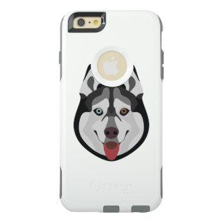 Illustration dogs face Siberian Husky OtterBox iPhone 6/6s Plus Case
