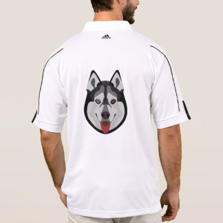 Illustration dogs face Siberian Husky Polo Shirt