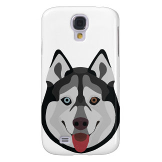 Illustration dogs face Siberian Husky Samsung Galaxy S4 Cover