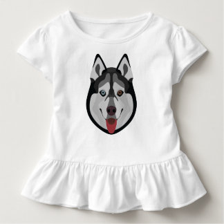 Illustration dogs face Siberian Husky Toddler T-Shirt