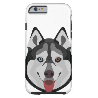 Illustration dogs face Siberian Husky Tough iPhone 6 Case