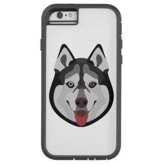 Illustration dogs face Siberian Husky Tough Xtreme iPhone 6 Case