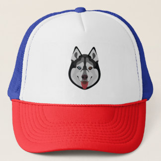 Illustration dogs face Siberian Husky Trucker Hat
