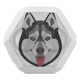 Illustration dogs face Siberian Husky White Bluetooth Speaker