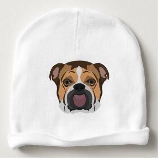 Illustration English Bulldog Baby Beanie