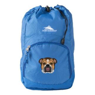 Illustration English Bulldog Backpack