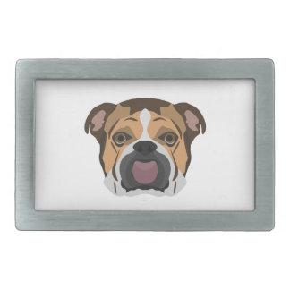 Illustration English Bulldog Belt Buckles