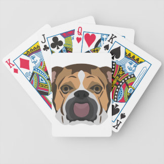 Illustration English Bulldog Bicycle Playing Cards