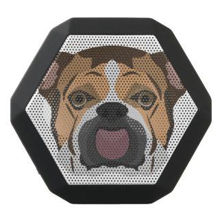Illustration English Bulldog Black Bluetooth Speaker