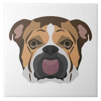 Illustration English Bulldog Ceramic Tile