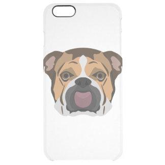 Illustration English Bulldog Clear iPhone 6 Plus Case