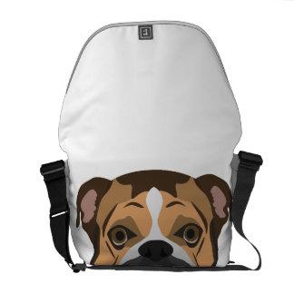 Illustration English Bulldog Commuter Bag