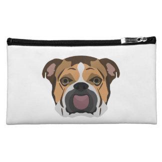 Illustration English Bulldog Cosmetic Bag