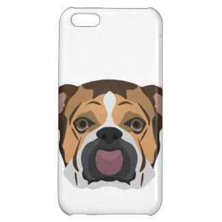 Illustration English Bulldog Cover For iPhone 5C