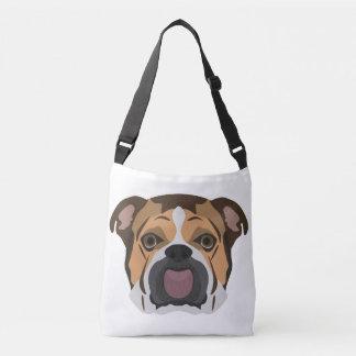 Illustration English Bulldog Crossbody Bag