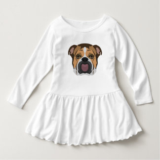 Illustration English Bulldog Dress