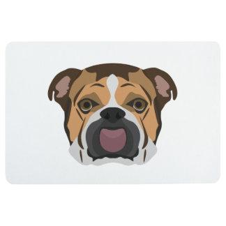 Illustration English Bulldog Floor Mat