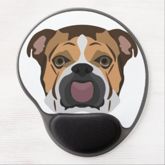 Illustration English Bulldog Gel Mouse Pad
