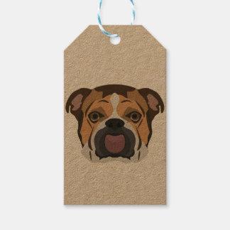 Illustration English Bulldog Gift Tags