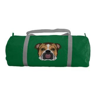Illustration English Bulldog Gym Bag