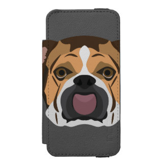Illustration English Bulldog Incipio Watson™ iPhone 5 Wallet Case