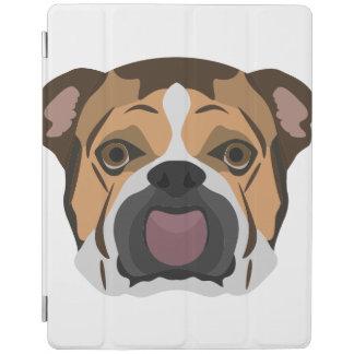 Illustration English Bulldog iPad Cover