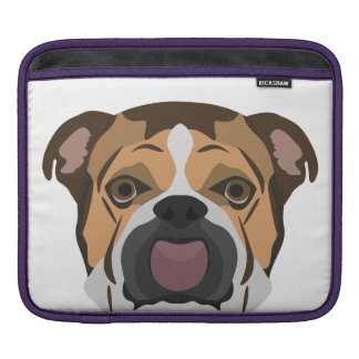 Illustration English Bulldog iPad Sleeve