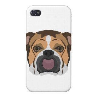 Illustration English Bulldog iPhone 4/4S Covers